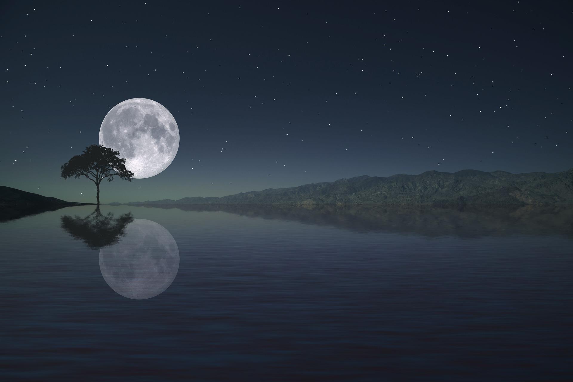 Full moon - Volle maan meditatie - Yoga Natuurlijk Borne Online - Left